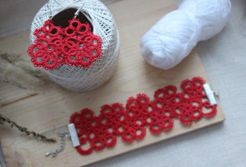 Схемы фриволите: воротники, салфетки и сережки иглой для начинающих.