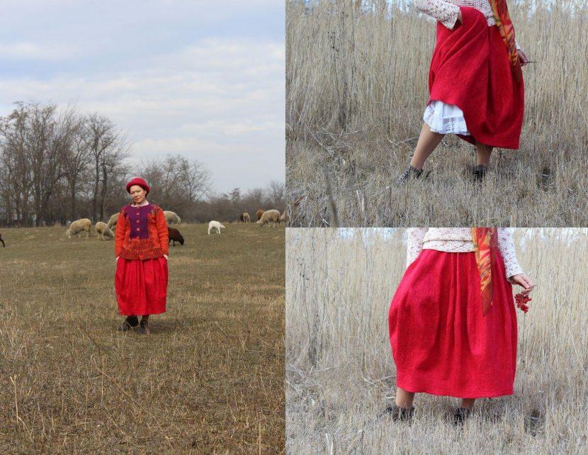 юбка валенная