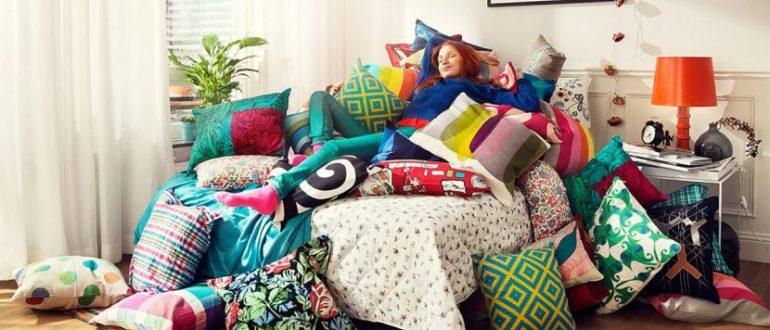 подушки в доме