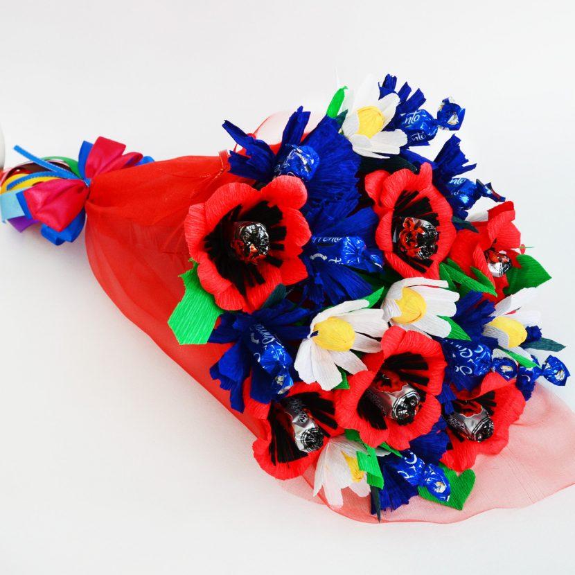 конфеты и цветы