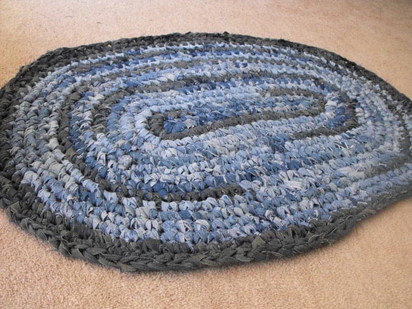 коврик из джинса