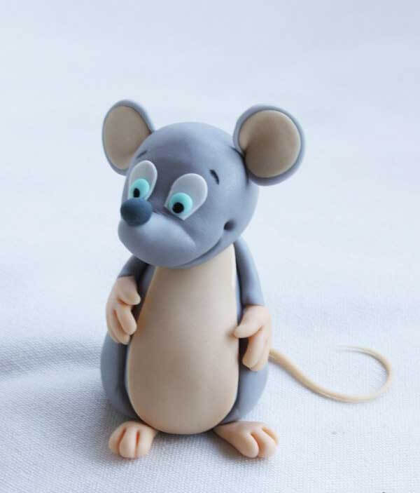 мышь из пластилина