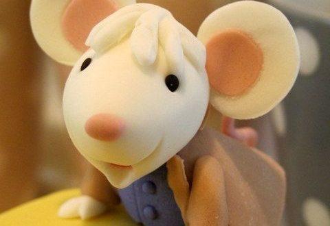 мышка из мастики для торта