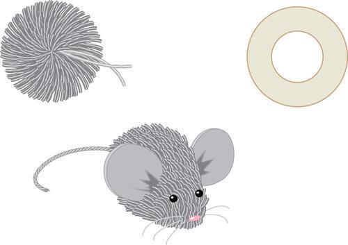 Мышка из помпона