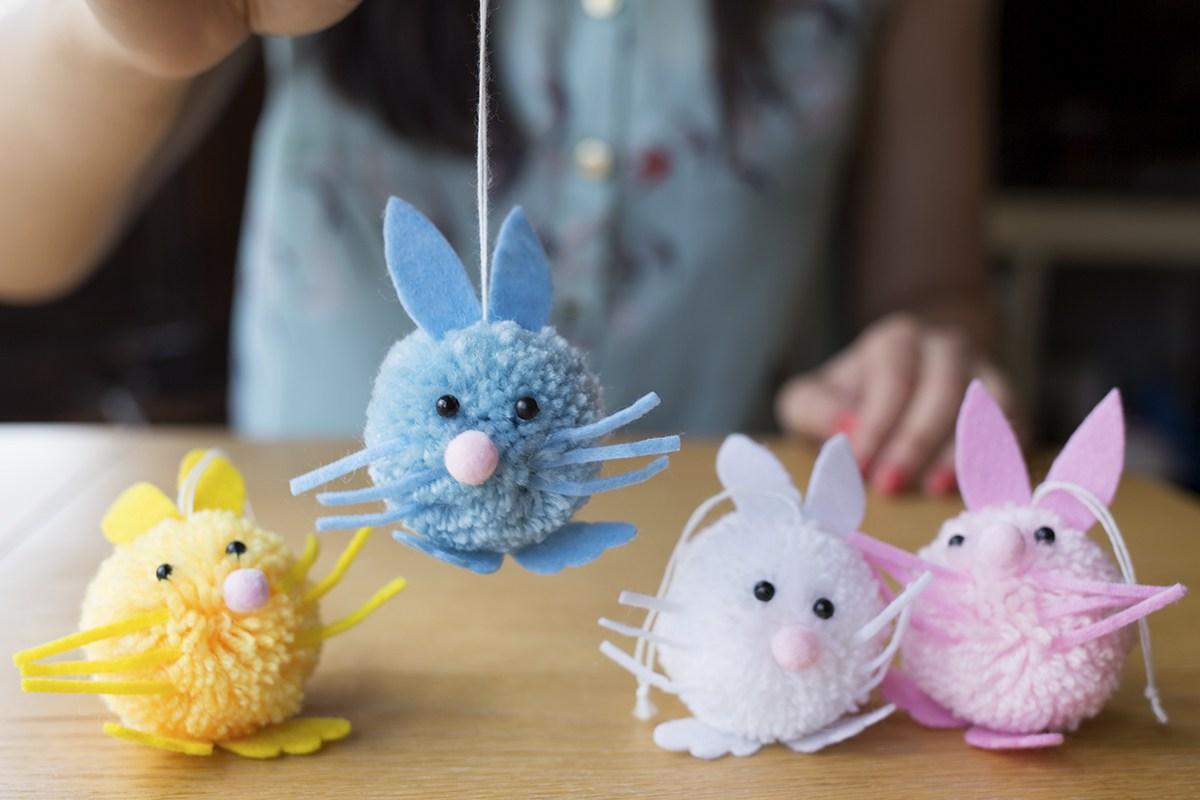 мышки из помпонов