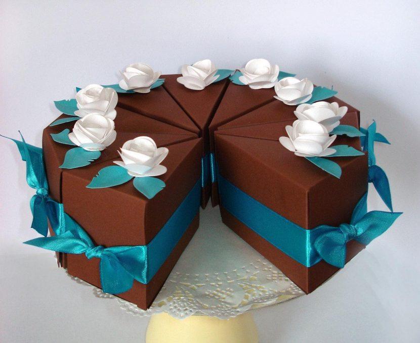 Как сделать торт подарок из картона