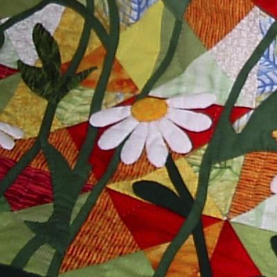 Создание картин из лоскутков ткани